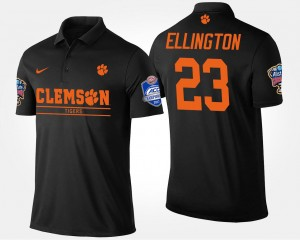 Clemson Tigers Andre Ellington Polo #23 Bowl Game Atlantic Coast Conference Sugar Bowl Black Mens