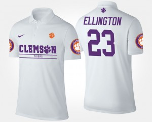 Clemson Tigers Andre Ellington Polo For Men #23 White