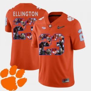 Clemson Tigers Andre Ellington Jersey Football Orange Men's #23 Pictorial Fashion
