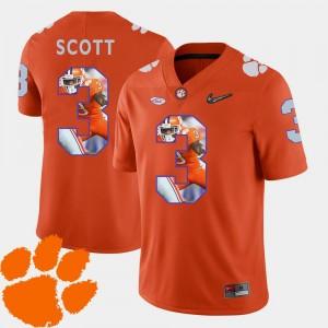 Clemson Tigers Artavis Scott Jersey Orange Men Football Pictorial Fashion #3