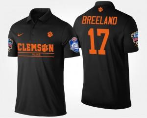 Clemson Tigers Bashaud Breeland Polo Atlantic Coast Conference Sugar Bowl #17 Bowl Game Black Men