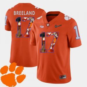 Clemson Tigers Bashaud Breeland Jersey Orange Football Pictorial Fashion Men's #17