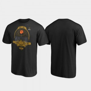 Clemson Tigers T-Shirt 2020 National Championship Bound French Quarter College Football Playoff Black For Men's