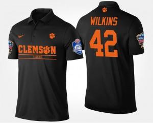 Clemson Tigers Christian Wilkins Polo Black Bowl Game For Men's #42 Atlantic Coast Conference Sugar Bowl