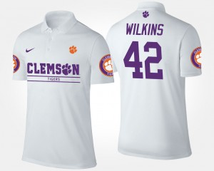 Clemson Tigers Christian Wilkins Polo White #42 Mens