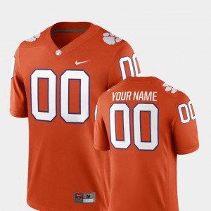 Clemson Tigers Customized Jersey Orange College Football #00 For Men's 2018 Game