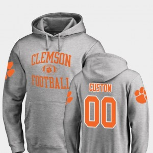 Clemson Tigers Custom Hoodie Ash Men College Football Neutral Zone #00