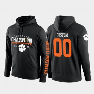 Clemson Tigers Customized Hoodies College Football Pullover #00 Men 2018 National Champions Black