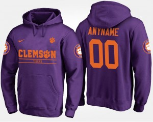 Clemson Tigers Customized Hoodies Purple Men's #00
