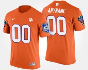 Clemson Tigers Customized T-Shirt For Men Atlantic Coast Conference Sugar Bowl Bowl Game #00 Orange