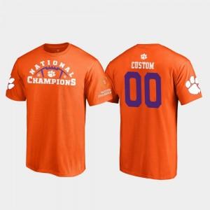 Clemson Tigers Custom T-Shirt Pylon College Football Playoff Mens 2018 National Champions Orange #00