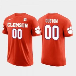 Clemson Tigers Custom T-Shirt Cotton Football Orange Future Stars #00 For Men's