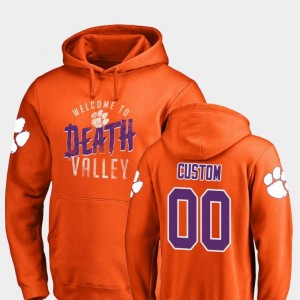 Clemson Tigers Custom Hoodies #00 Hometown Collection Logo Orange Men