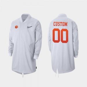 Clemson Tigers Custom Jackets Full-Zip Sideline #00 2019 College Football Playoff Bound Men's White