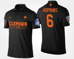 Clemson Tigers DeAndre Hopkins Polo Black #6 Bowl Game Atlantic Coast Conference Sugar Bowl Men's
