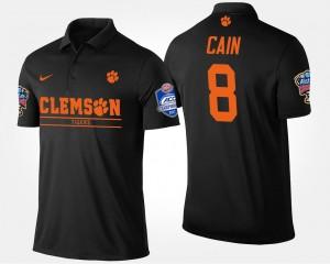 Clemson Tigers Deon Cain Polo Black Atlantic Coast Conference Sugar Bowl #8 For Men's Bowl Game