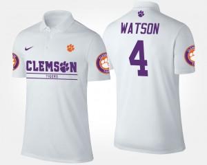 Clemson Tigers Deshaun Watson Polo #4 Mens White
