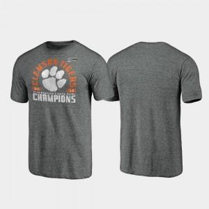 Clemson Tigers T-Shirt Offensive Tri-Blend Gray 2019 Fiesta Bowl Champions Men's