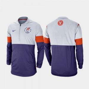Clemson Tigers Jacket Gray Purple Football Half-Zip For Men Rivalry