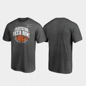 Clemson Tigers T-Shirt Heather Gray 2019 Fiesta Bowl Bound Scrimmage Men