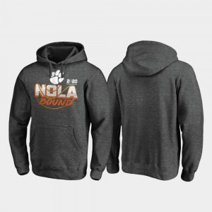 Clemson Tigers Hoodie 2020 National Championship Bound College Football Playoff Defensive For Men's Heather Gray