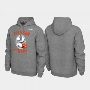Clemson Tigers Hoodie Local Phrase Heathered Gray Pullover Men's