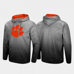 Clemson Tigers Hoodie Sitwell Sublimated Heathered Gray Pullover For Men