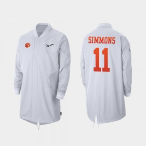 Clemson Tigers Isaiah Simmons Jacket Full-Zip Sideline 2019 College Football Playoff Bound For Men White #11