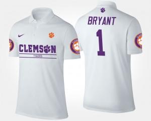 Clemson Tigers Martavis Bryant Polo White #1 Mens
