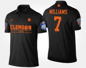 Clemson Tigers Mike Williams Polo Black For Men's Bowl Game #7 Atlantic Coast Conference Sugar Bowl