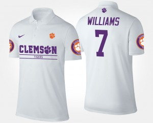 Clemson Tigers Mike Williams Polo Men's #7 White