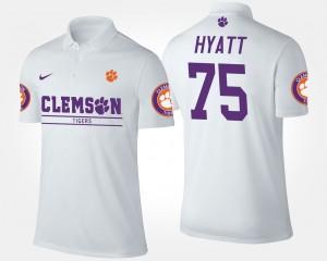 Clemson Tigers Mitch Hyatt Polo White #75 Men