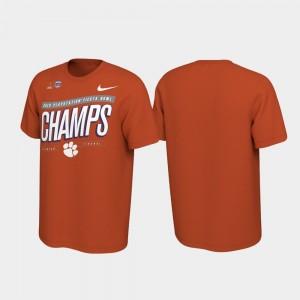 Clemson Tigers T-Shirt Orange Locker Room College Football Playoff 2019 Fiesta Bowl Champions For Men