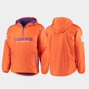 Clemson Tigers Jacket Orange Half-Zip Men's Base Runner