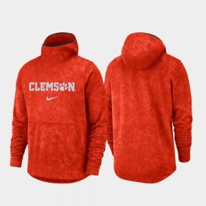 Clemson Tigers Hoodie Orange Basketball Team Logo Pullover Spotlight Men