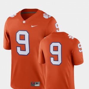 Clemson Tigers Jersey 2018 Game Orange Men College Football #9