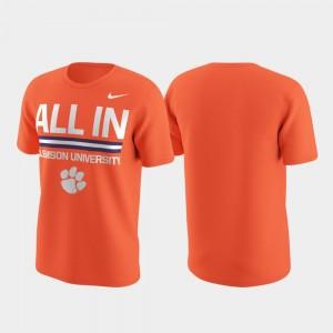 Clemson Tigers T-Shirt Local Verbiage For Men Orange Performance