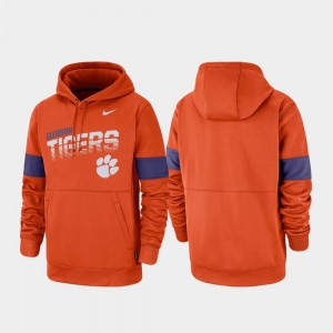 Clemson Tigers Hoodie Performance For Men's Pullover Orange