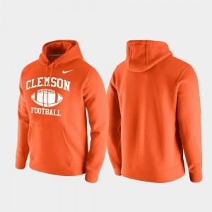 Clemson Tigers Hoodie Orange Club Fleece Retro Football For Men