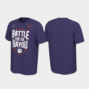 Clemson Tigers T-Shirt For Men's 2019 College Football Playoff Bound Purple Battle For The Bayou