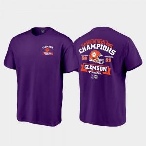 Clemson Tigers T-Shirt Score College Football Playoff Purple Men's 2019 Fiesta Bowl Champions
