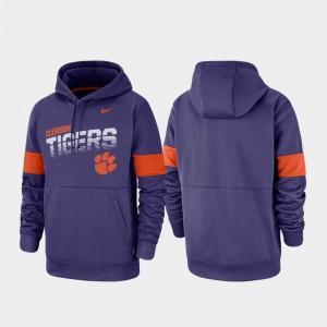 Clemson Tigers Hoodie Purple Men Performance Pullover