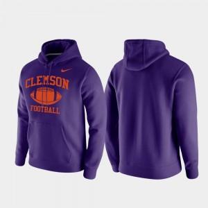 Clemson Tigers Hoodie Retro Football Purple For Men Club Fleece