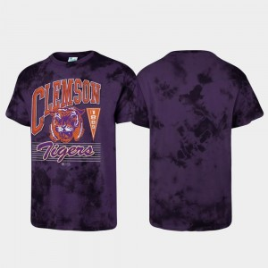 Clemson Tigers T-Shirt Mens Purple Tubular Tie Dye