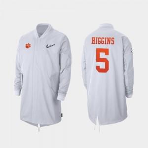 Clemson Tigers Tee Higgins Jacket 2019 College Football Playoff Bound Full-Zip Sideline White #5 Mens