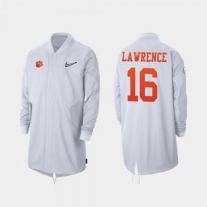 Clemson Tigers Trevor Lawrence Jacket Men's Full-Zip Sideline White #16 2019 College Football Playoff Bound