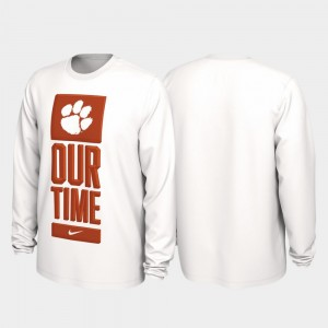 Clemson Tigers T-Shirt White Our Time Bench Legend Men's 2020 March Madness