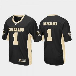 Colorado Buffaloes Jersey Mens #1 Black Football Max Power