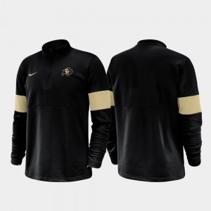 Colorado Buffaloes Jacket Half-Zip Performance 2019 Coaches Sideline Black Men's