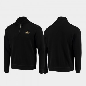 Colorado Buffaloes Jacket Half-Zip Pullover Tommy Bahama Black College Sport Nassau Mens